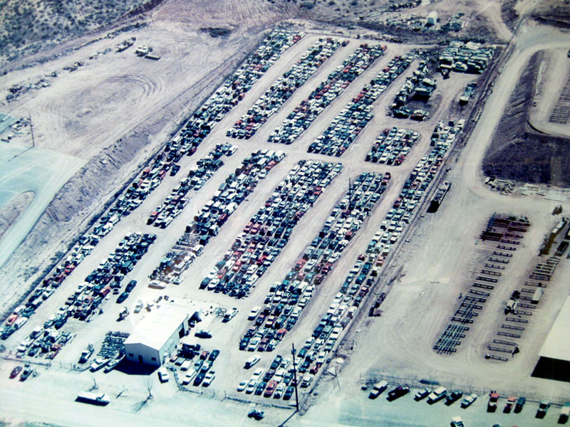 Aerial view of Southwest Auto Recycling